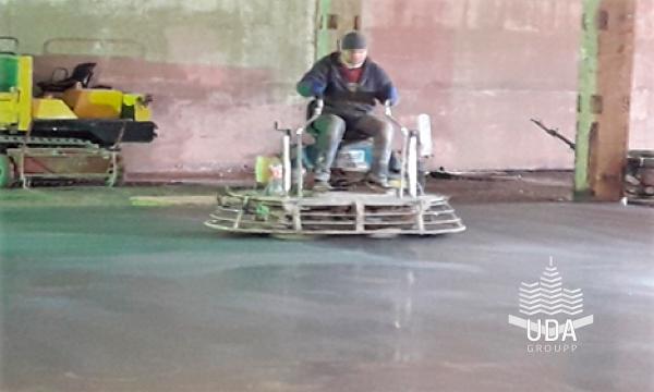 Промышленный пол топпинг портфолио работ строительной компании ЮДА групп