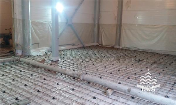 Промышленный бетонный пол «топпинг» на мясокомбинате